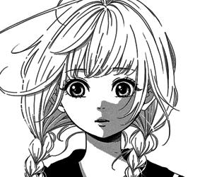 anime, black and white, and manga image