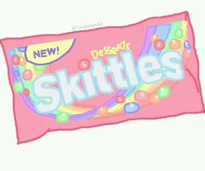 transparent, skittles, and overlays image
