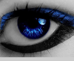 close-up, electric blue, and eye image