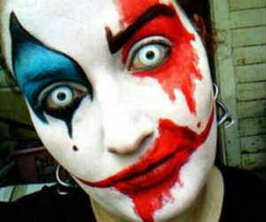 clown, Halloween, and make up image