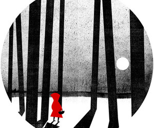 illustration and little red riding hood image