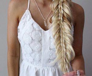 blonde, white, and braid image