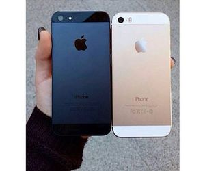 black, iphone, and gold image
