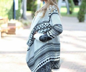 asymmetric, cardigan, and fashion image