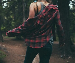 girl, forest, and grunge image