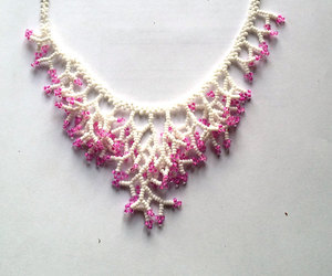 beaded necklace, wedding necklace, and beaded jewelry image