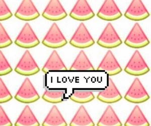 watermelon, love, and background image