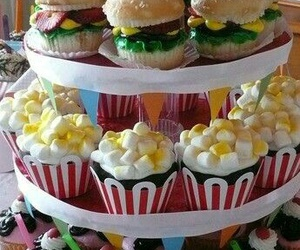 cupcake, food, and popcorn image