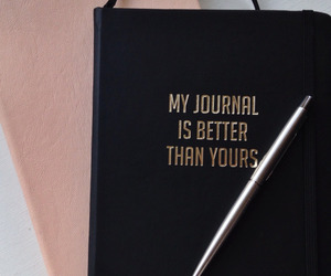 journal, black, and quotes image