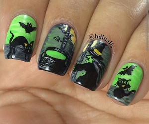 art, nails, and Halloween image