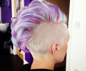 blonde, purple, and blue image