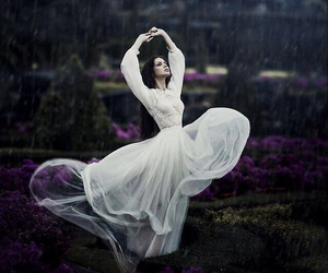 dress, rain, and dance image