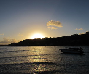 plage, coucher, and soleil image