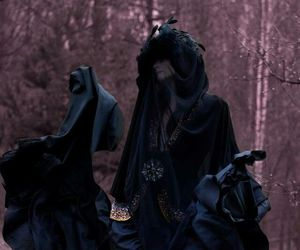 crows, morrigan, and witch image