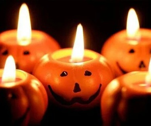 Halloween, pumpkin, and candle image