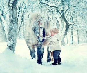 cute, snow, and white image