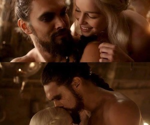 game of thrones, trono di spade, and drogo and daenerys image