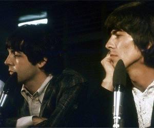 george harrison, the beatles, and Paul McCartney image