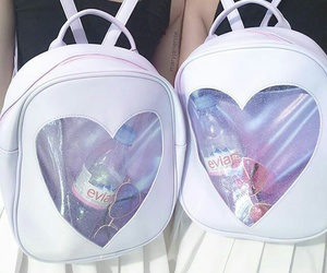 backpack, heart, and aesthetic image