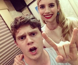 evan peters, emma roberts, and ahs image