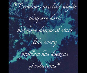 night, problems, and stars image
