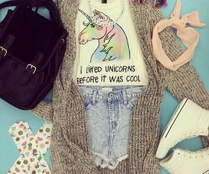 unicorn, outfit, and fashion image