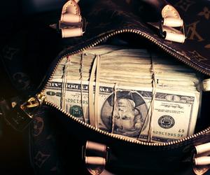 money, Louis Vuitton, and bag image
