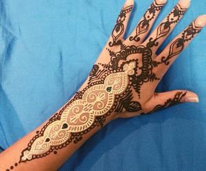 art, tattoo, and hand image