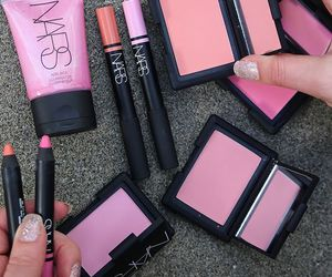 makeup, pink, and nars image