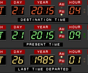 Back to the Future, bttf, and time image
