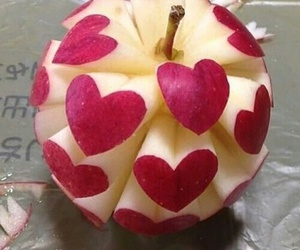 apple, heart, and food image