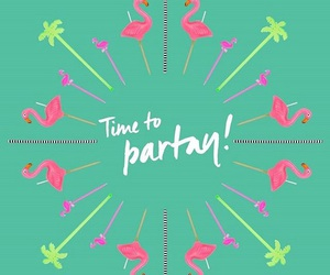 flamingos, party, and loveit image