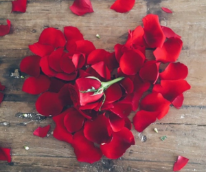 rose, heart, and flowers image