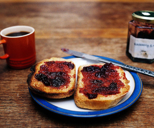food, breakfast, and jam image