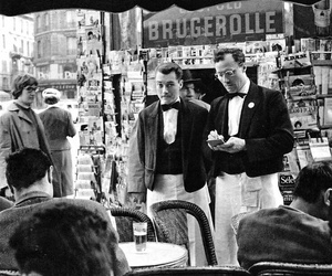 1950's, black and white, and france image
