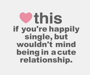 single, cute, and Relationship image