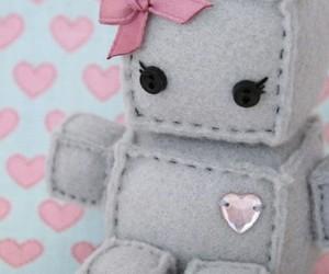 pink, robot, and diy image