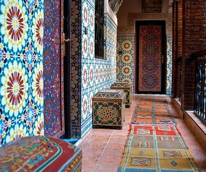 morocco, architecture, and marrakech image