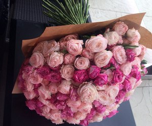 rose, beautiful, and bouquet image