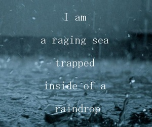 quotes, rain, and sea image