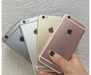 iphone, pink, and gold image