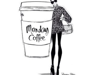 monday, coffee, and drawing image