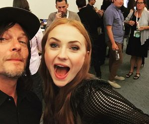 norman reedus, sophie turner, and the walking dead image