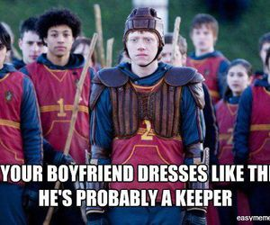 harry potter, keeper, and ron weasley image
