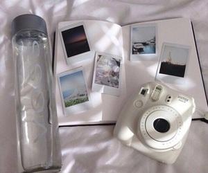 white, polaroid, and camera image