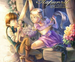 how to train your dragon, disney, and rapunzel image