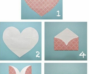 heart, diy, and envelope image