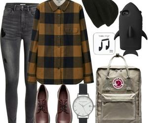fashion, fjallraven kanken, and flannel image