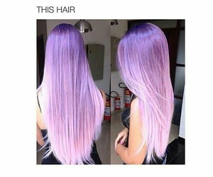 hair, purple, and goals image