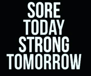 fitness, sore, and strong image